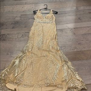 Gold jewel gown